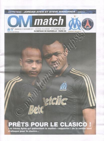 2011-11-27  Marseille-PSG (15ème L1, OM Match N°129)