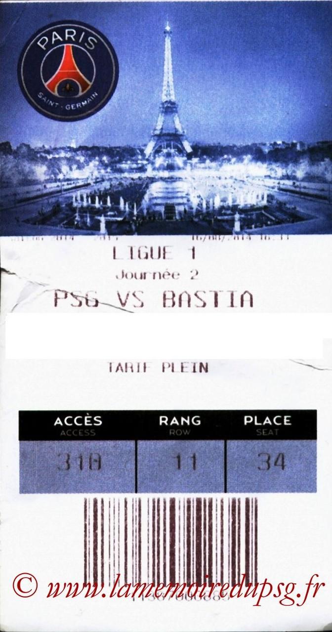 2014-08-16  PSG-Bastia (2ème L1, E-ticket)
