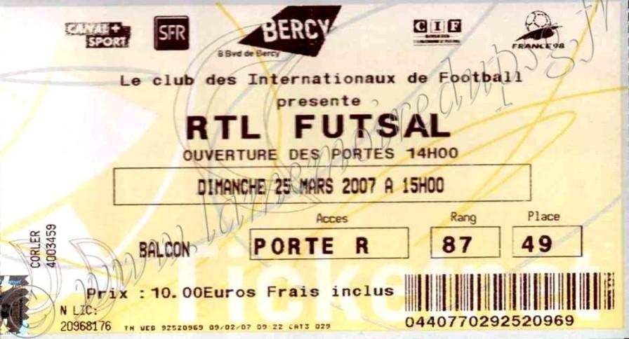 2007-03-25  RTL Futsal à Bercy
