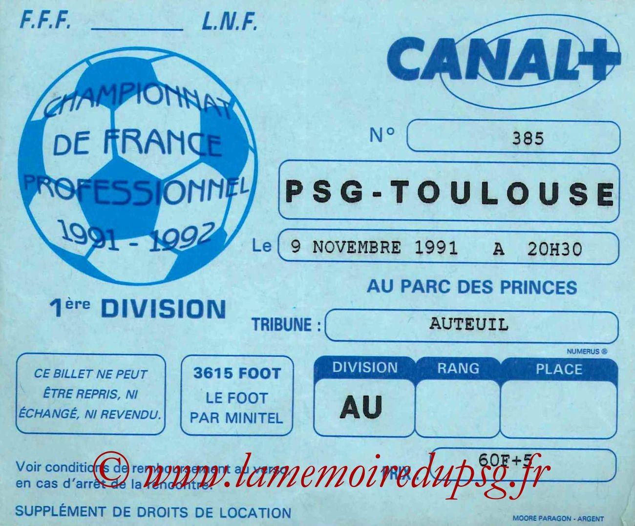 1991-11-09  PSG-Toulouse (17ème D1)