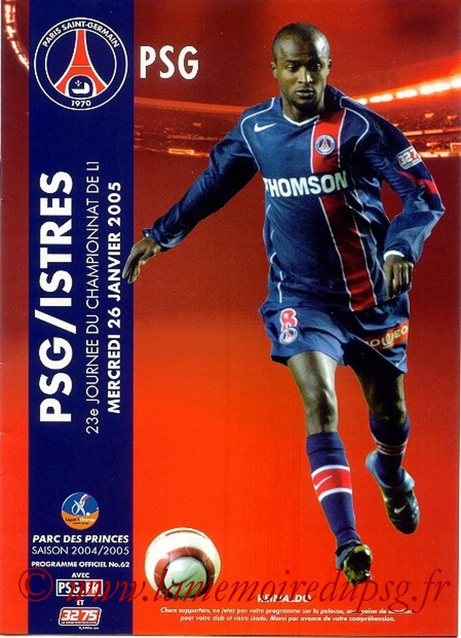 2005-01-26  PSG-Istres  (23ème L1, Officiel N°62)
