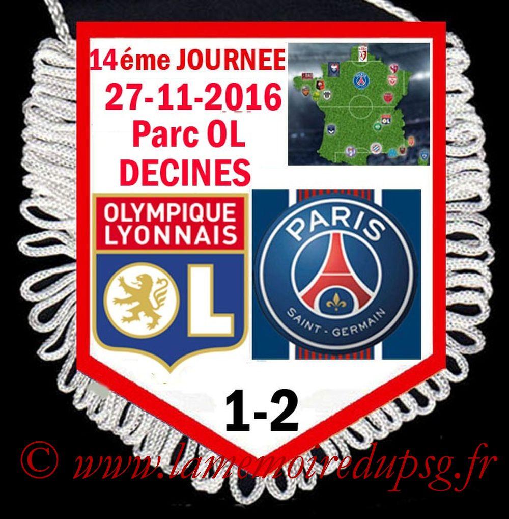 2016-11-27  Lyon-PSG (14ème L1)