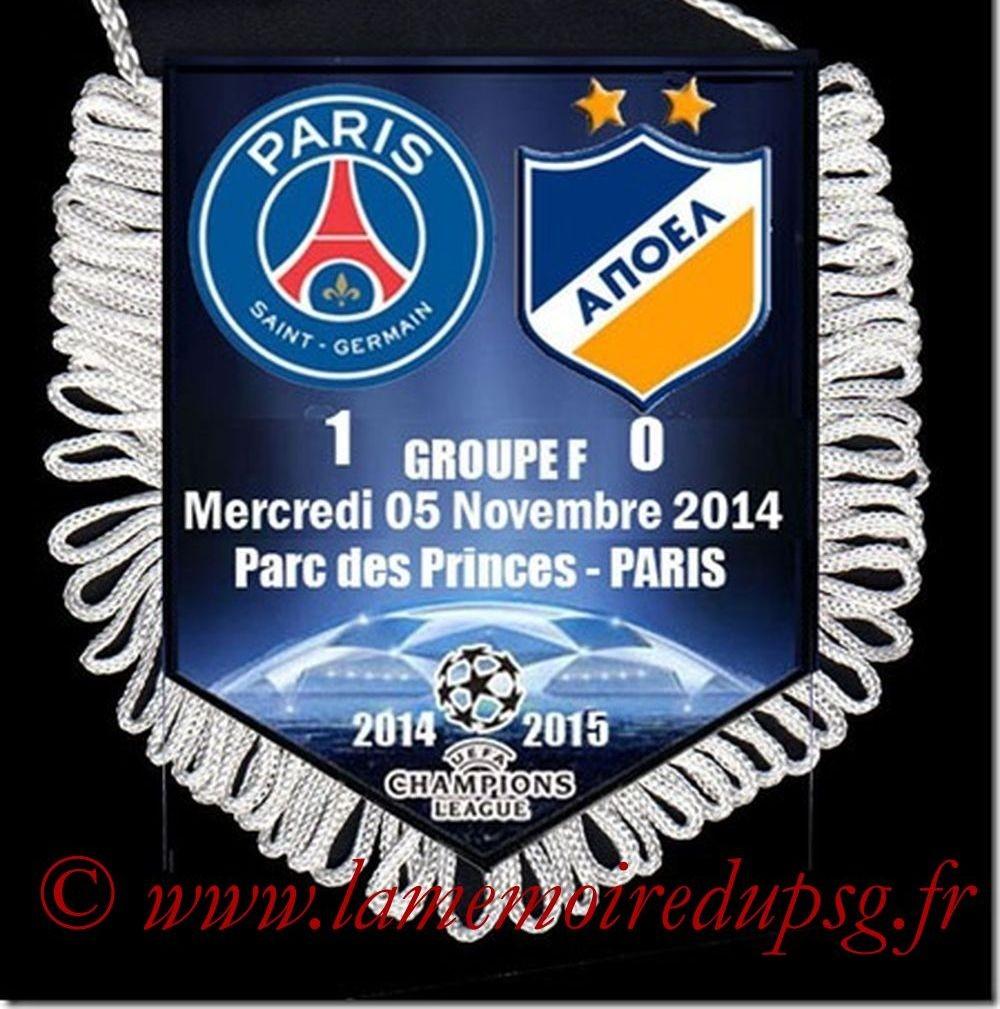2014-11-05  PSG-Apoel Nicosie (4ème C1)