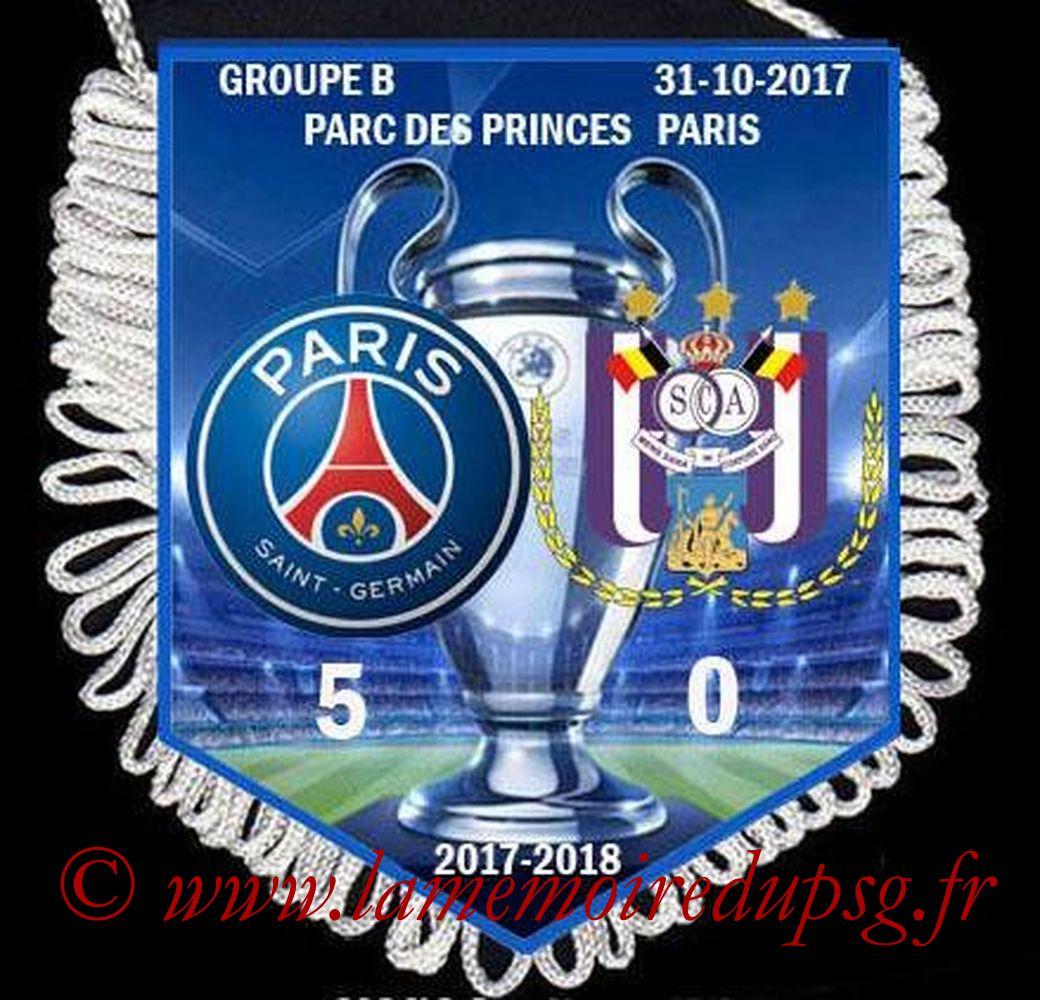 2017-10-31  PSG-Anderlecht (4ème Poule C1)