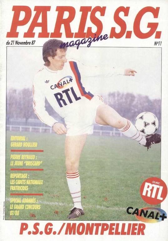 1987-11-21  PSG-Montpellier (20ème D1, Paris SG Magazine N°11)