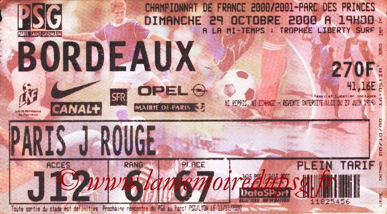2000-10-29  PSG-Bordeaux (13ème D1)