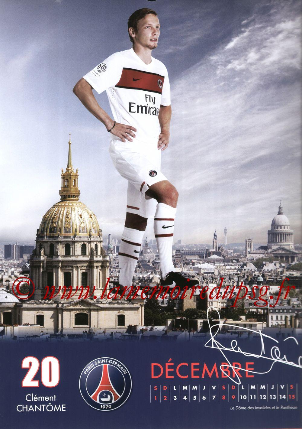 Calendrier PSG 2012 - Page 23 - Clément CHANTÔME