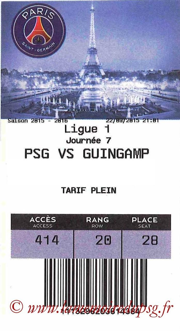 2015-09-22  PSG-Guingamp (7ème L1, E-ticket bis)