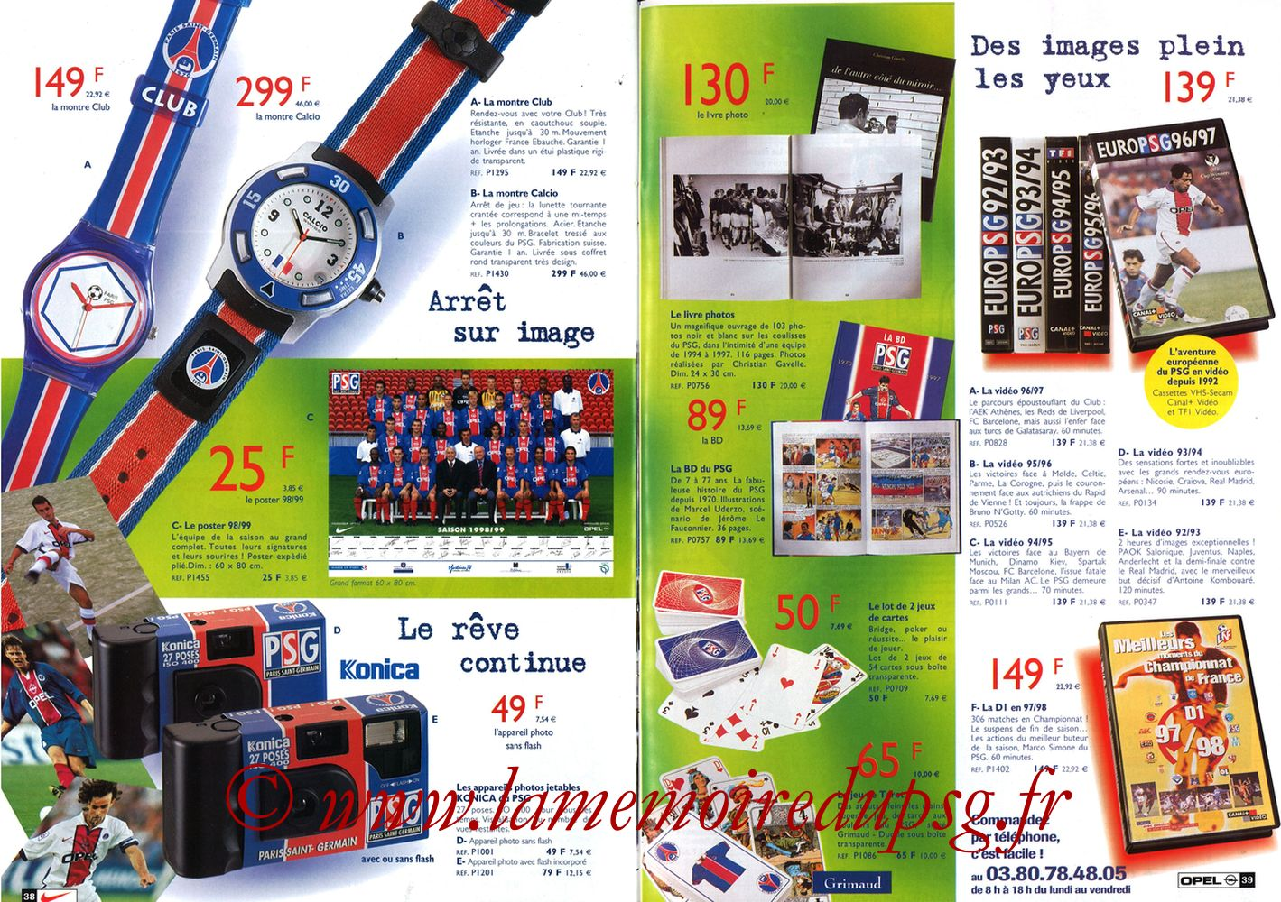 Catalogue PSG - 1998-99 - Pages 38 et 39
