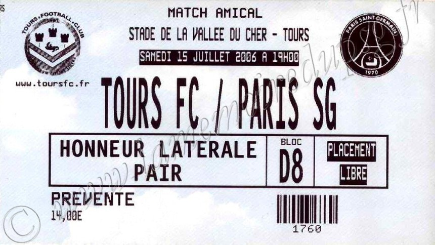 2006-07-15  Tours-PSG (Amical à Tours)