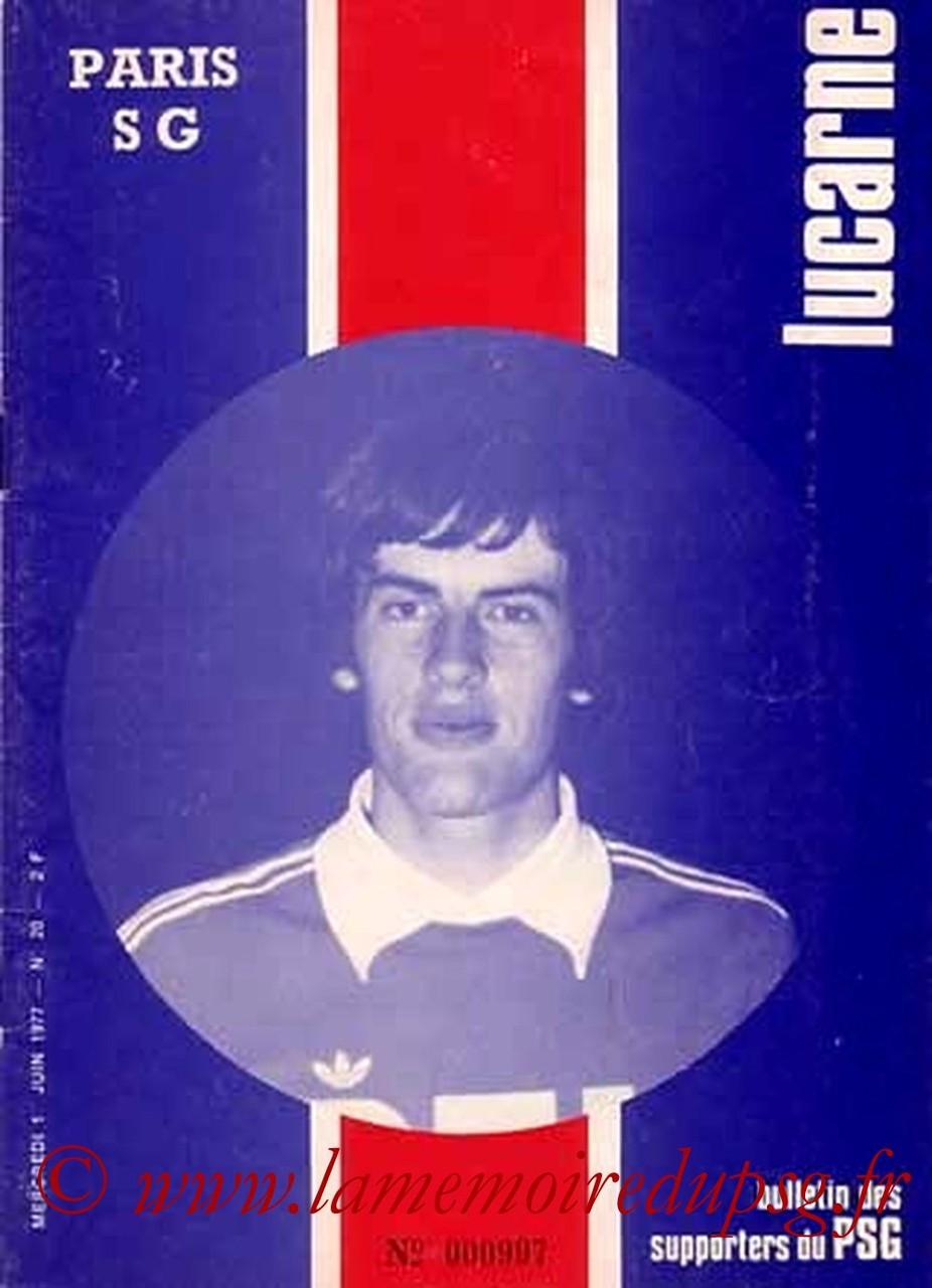 1977-06-01  PSG-Angers (36ème D1, Lucarne N°21)