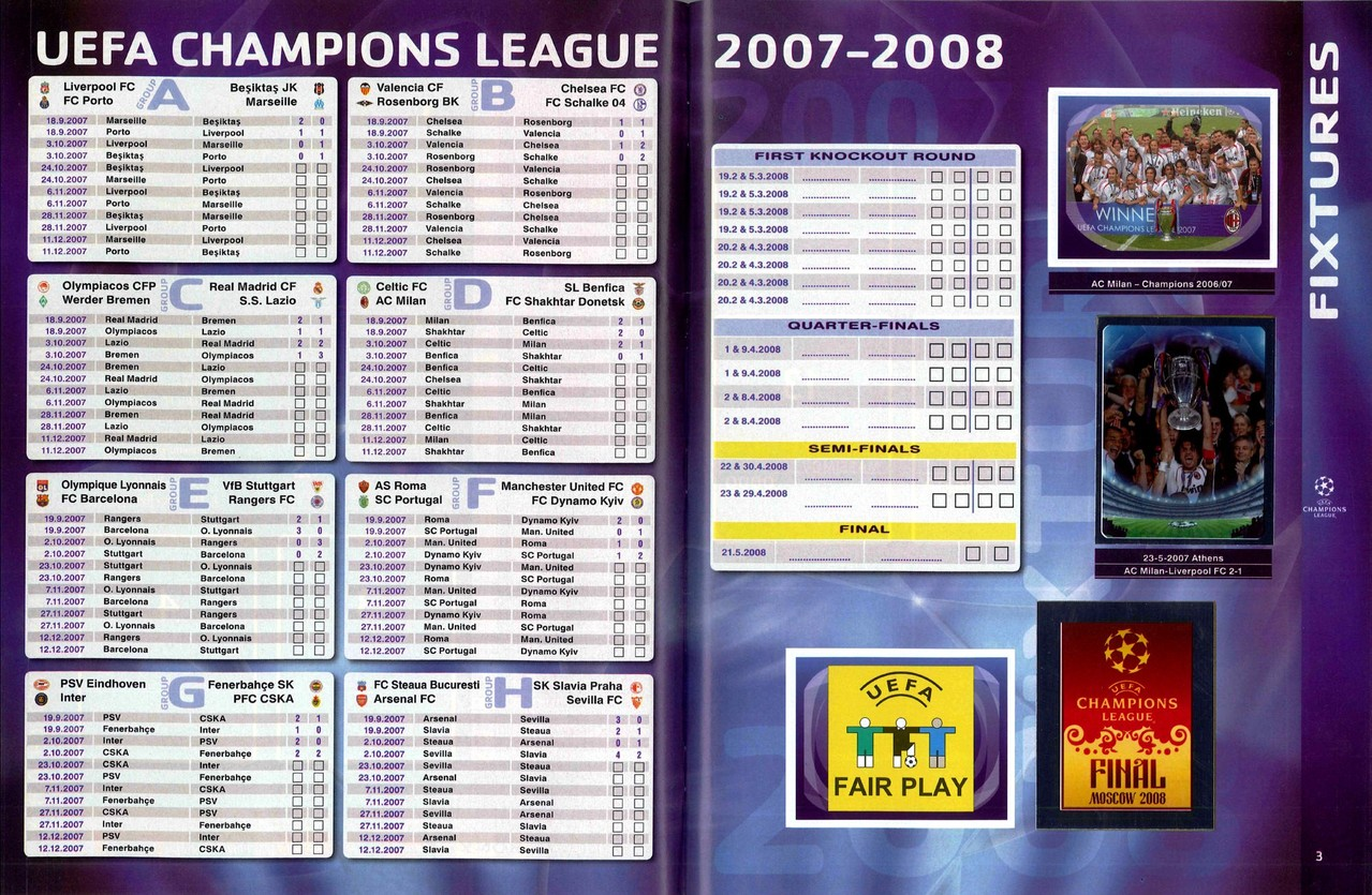 2007-08 - Panini Champions League - Pages 02 et 03
