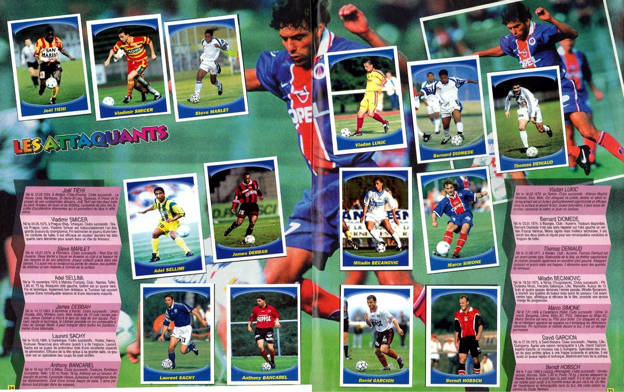 1997-98 - Panini Superfoot - Pages 24 et 25 - Les attaquants
