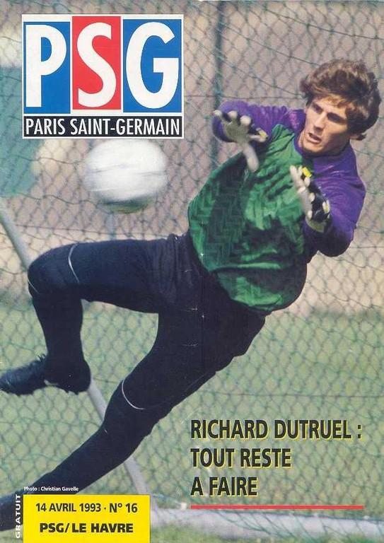 1993-04-14  PSG-Le Havre (32ème D1, Le Magazine PSG N°16)