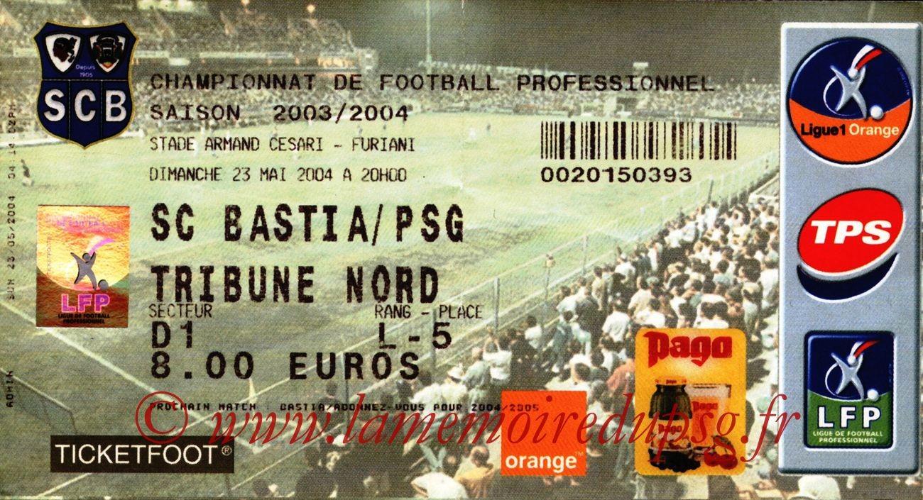 2004-05-23  Bastia-PSG (38ème L1)