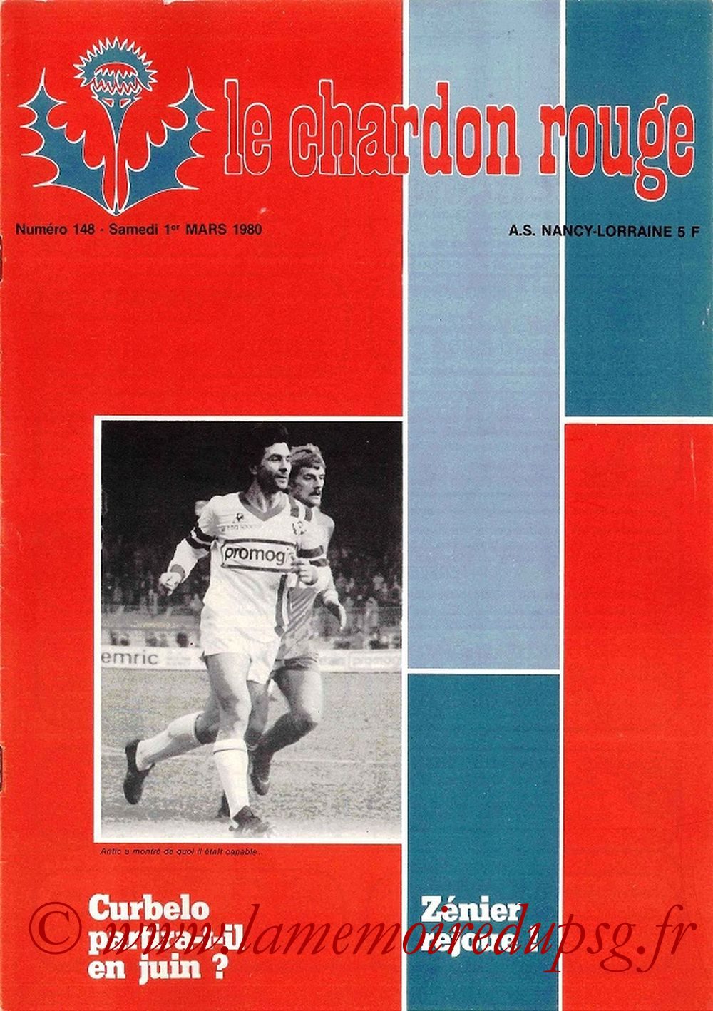 1980-03-01  Nancy-PSG (27ème D1, Le Chardon Rouge N°148)