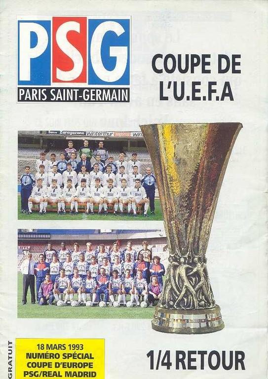 1993-03-18  PSG-Real Madrid (Quart Finale Retour C3, Le Magazine PSG N°HS)