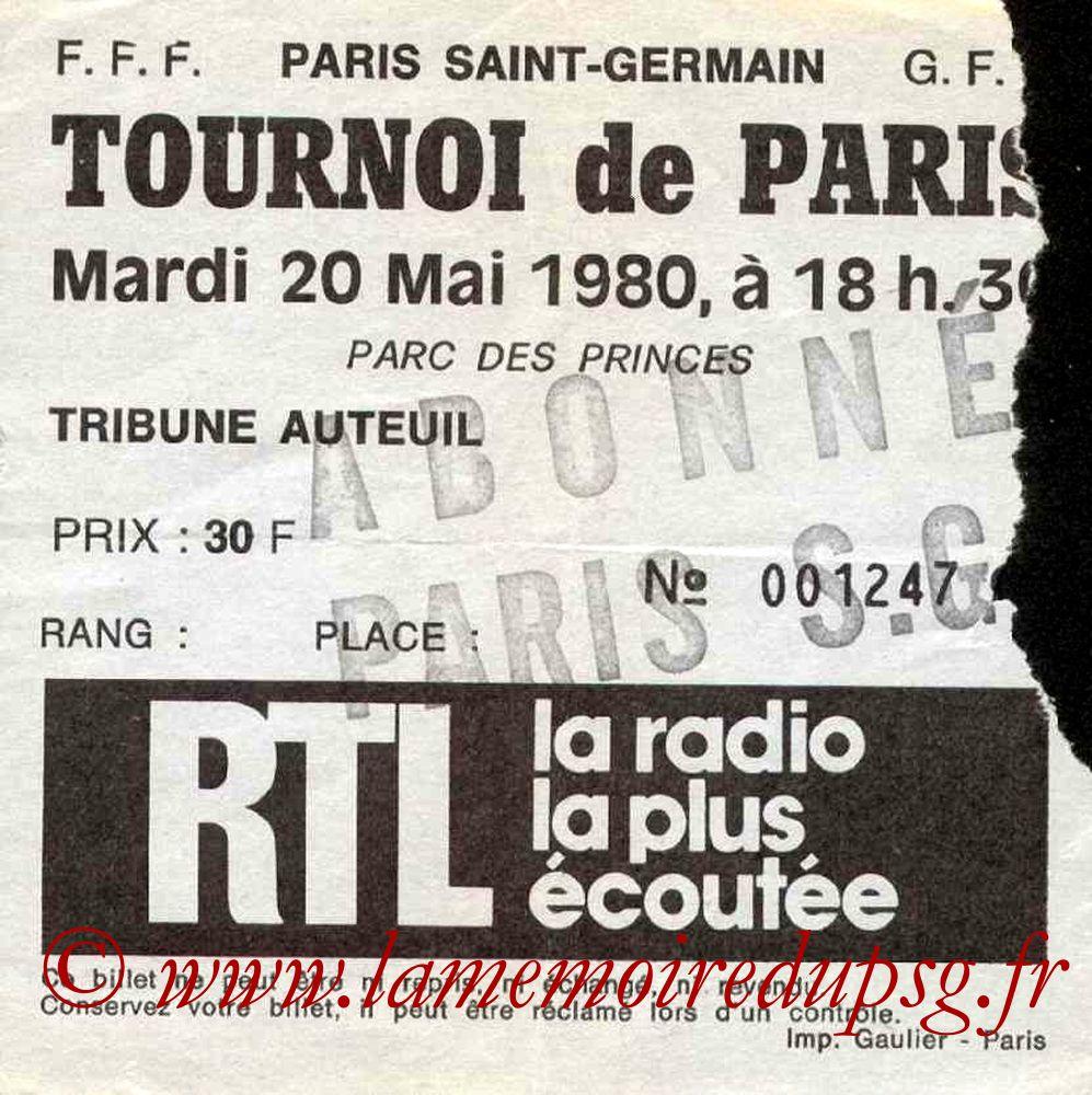 1980-05-20  PSG-Ajax Amsterdam (Demi-Finale Tournoi de Paris)