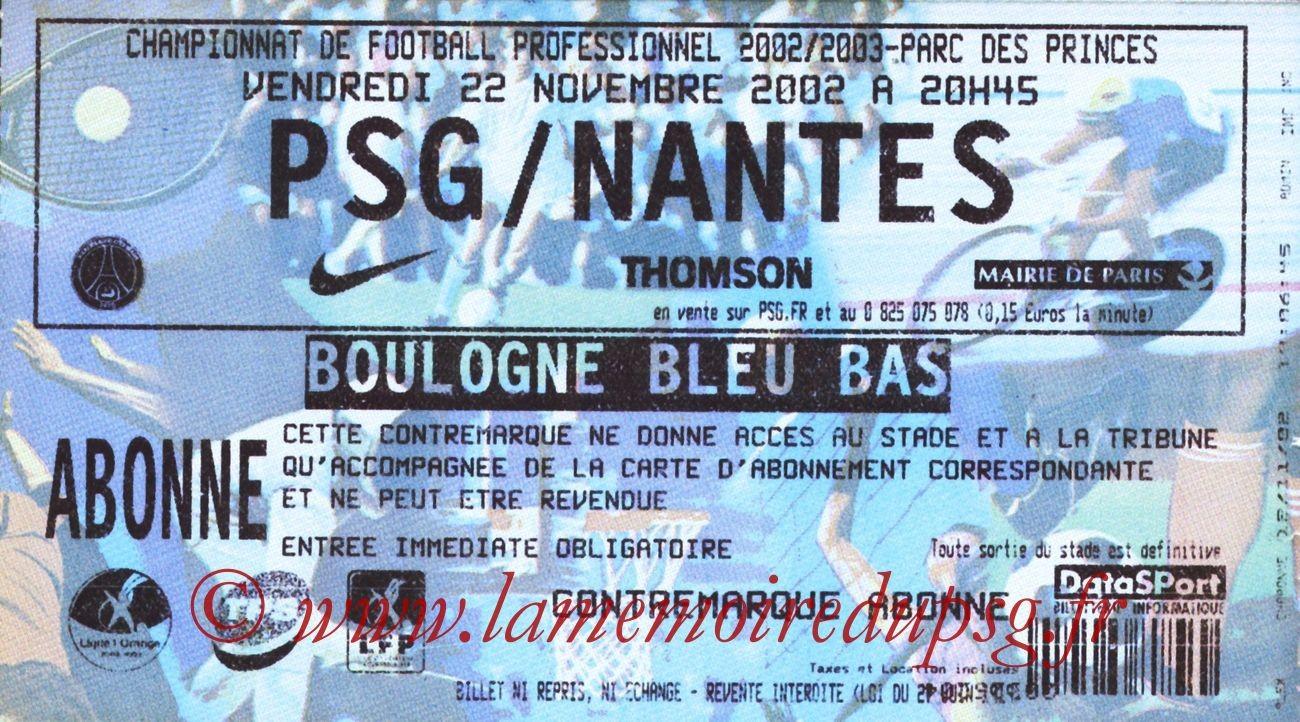 2002-11-22  PSG-Nantes (16ème L1)
