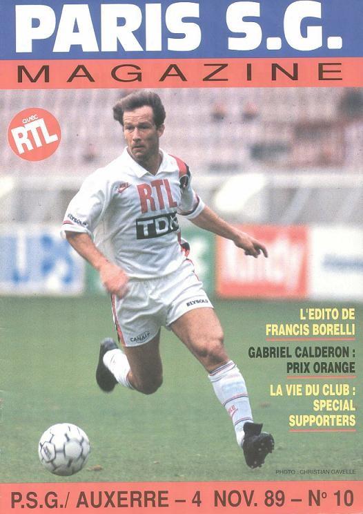 1989-11-04  PSG-Auxerre (17ème D1, Paris SG Magazine N°10)