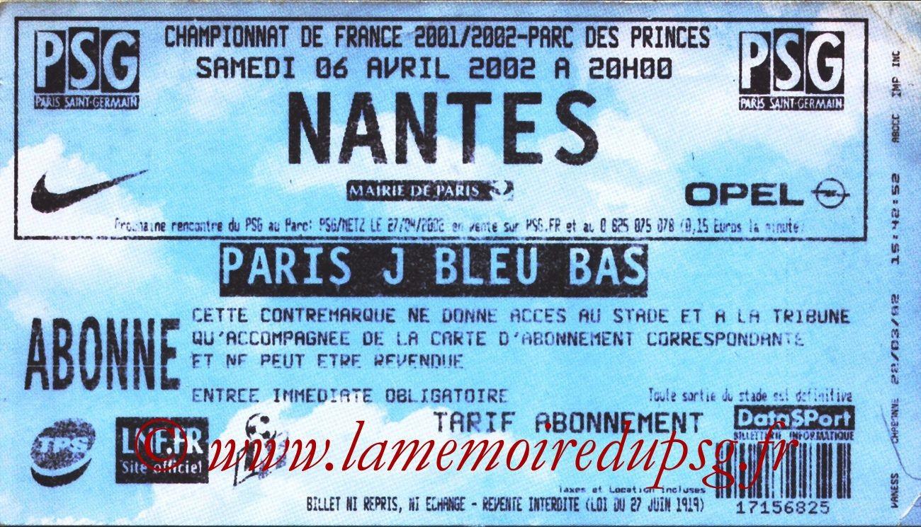 2002-04-06  PSG-Nantes (31ème D1, bis)