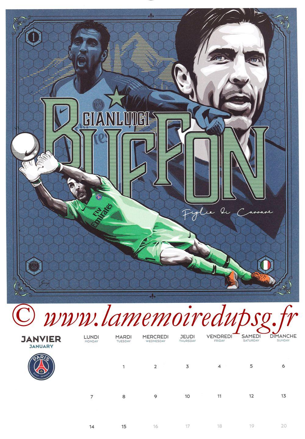 Calendrier PSG 2019 - Page 01 - Gianluigi BUFFON