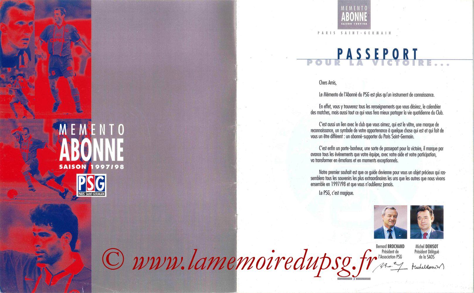 1997-98 - Guide de la Saison PSG - Pages 02 et 03