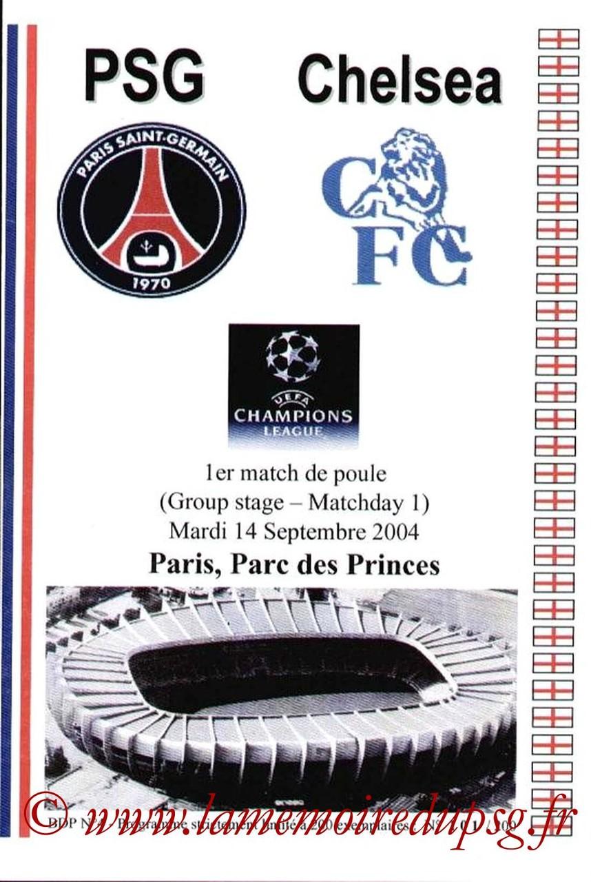 2004-09-14  PSG-Chelsea (1ère Poule C1, Pirate JNT)