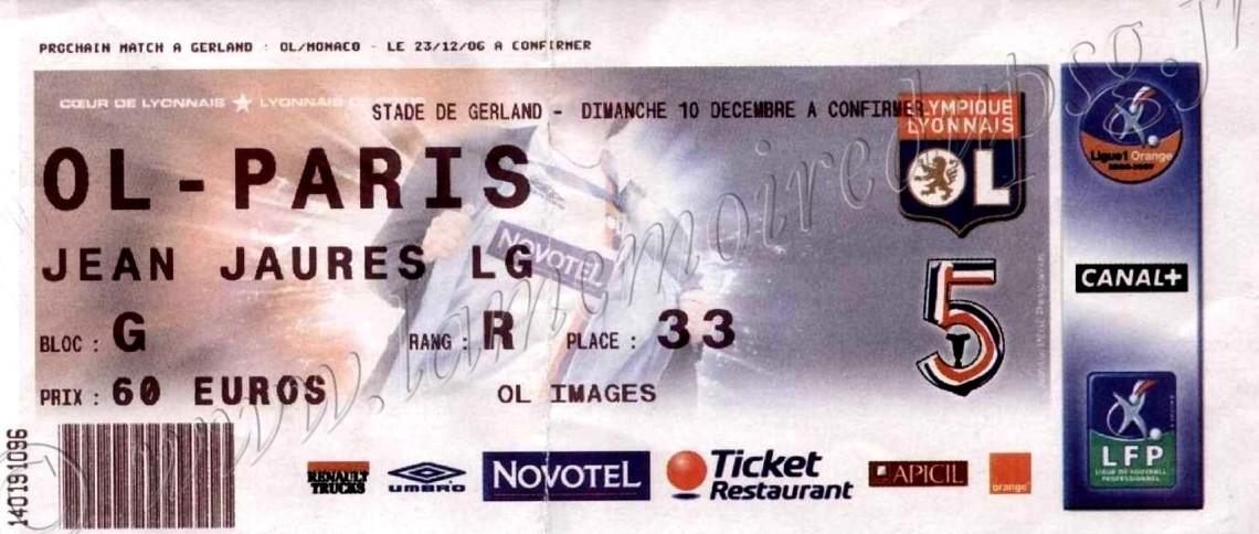 2006-12-10  Lyon-PSG (17ème L1)