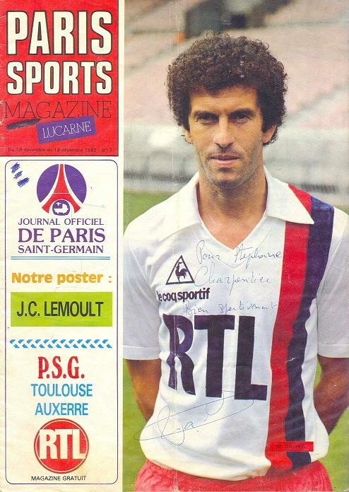 1982-11-23  PSG-Toulouse (16ème D1, Paris Sports Magazine N°7)