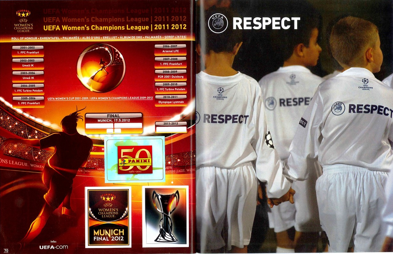 2011-12 - Panini Champions League - Pages 70 et 71