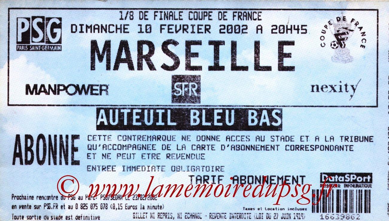 2002-02-10  PSG-Marseille (8ème Finale CF, bis)