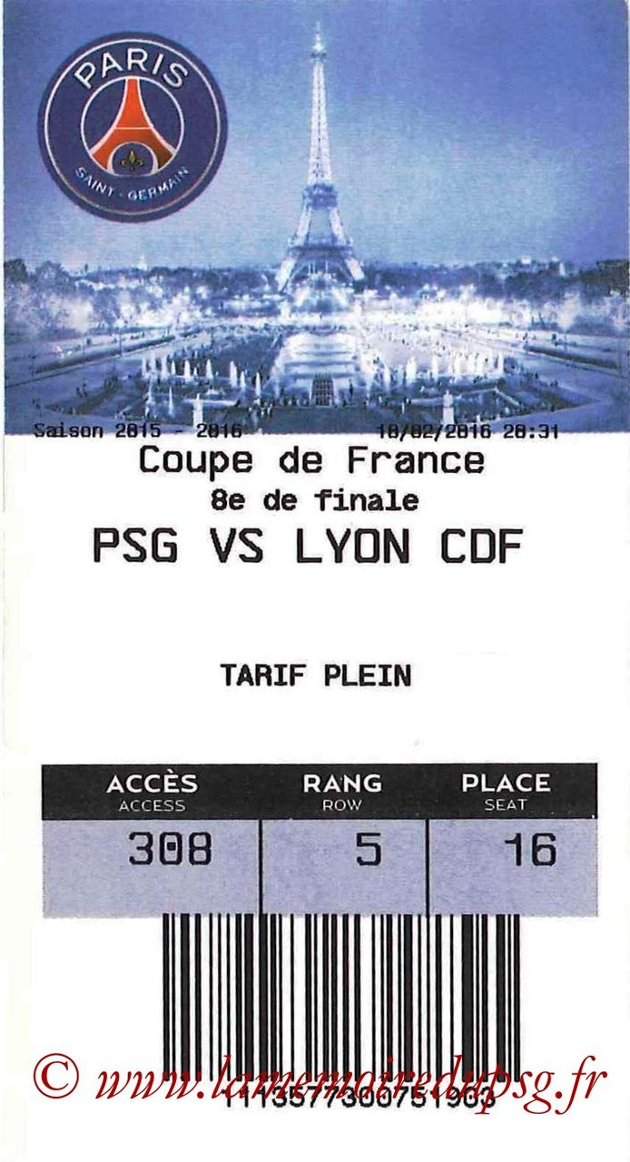 2016-02-10  PSG-Lyon (8ème CF, E-ticket)