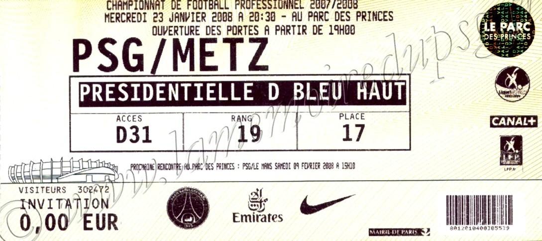 2008-01-23  PSG-Metz (22ème D1)