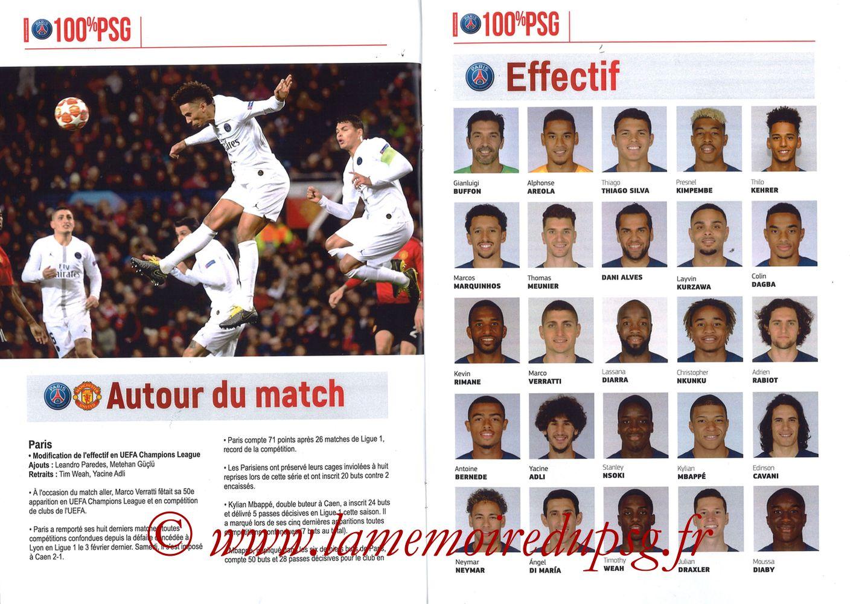 2019-03-06  PSG-Manchester United (8ème Retour C1, 100% PSG N° 181) - Pages 08 et 09
