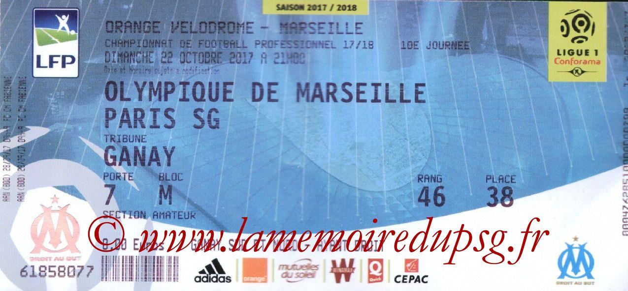 2017-10-22  Marseille-PSG (10ème L1)