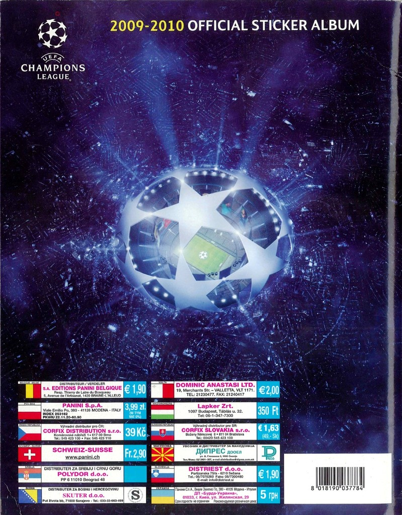 2009-10 - Panini Champions League - Dos Album
