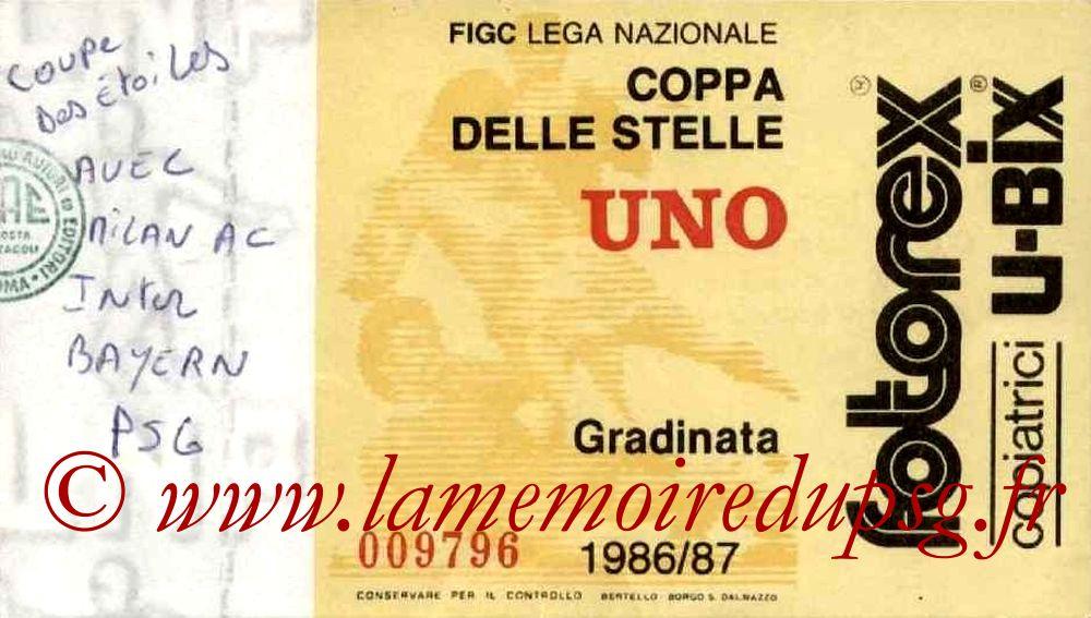 1987-06-21  PSG- Inter Milan (1ère journée Coupe des Etoiles à Milan)