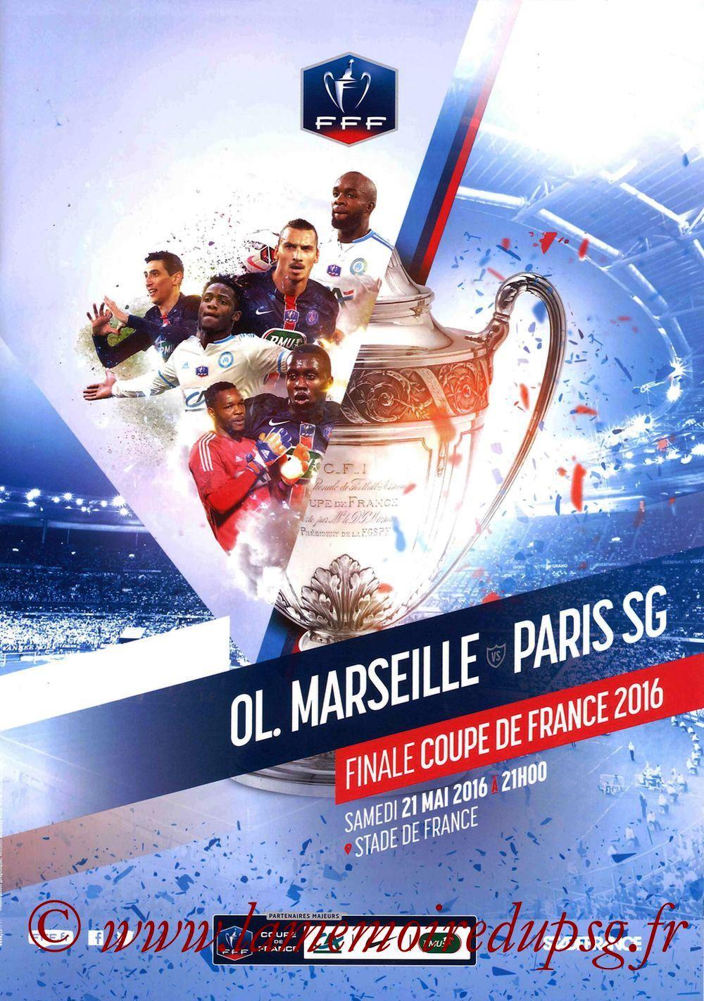 2016-05-21  PSG-Marseille (Finale CF à Saint-Denis, Programme officiel)