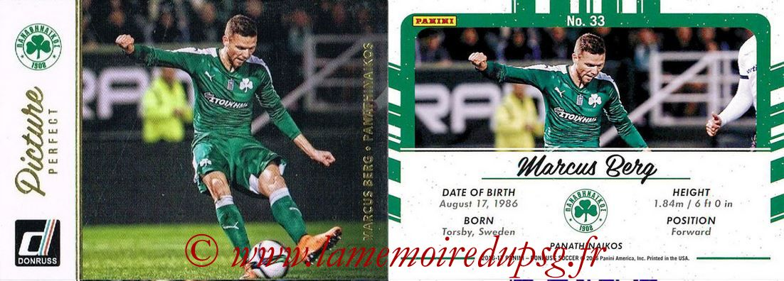 2016 - Panini Donruss Cards - N° PP33 - Marcus BERG (Panathinaikos) (Picture Perfect)