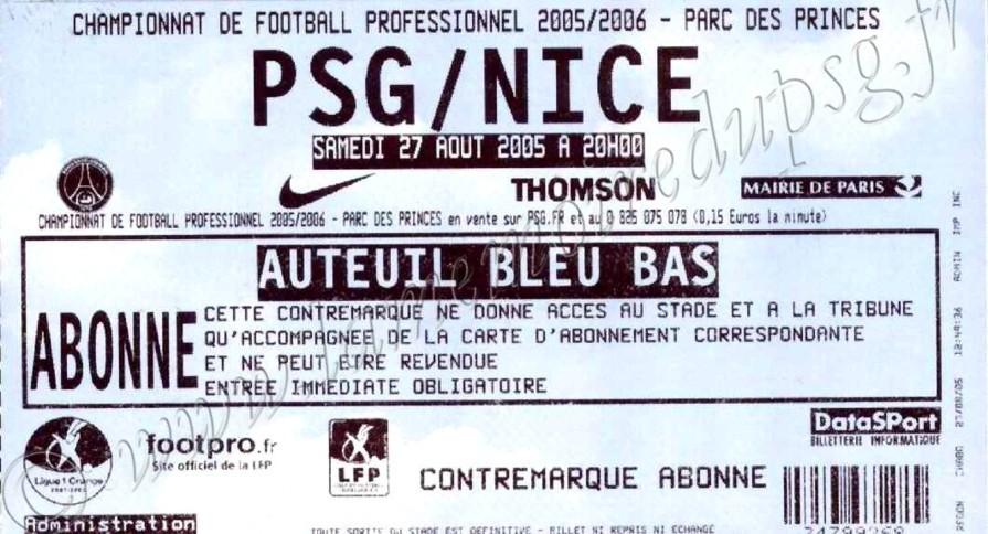 2005-08-27  PSG-Nice (5ème L1)