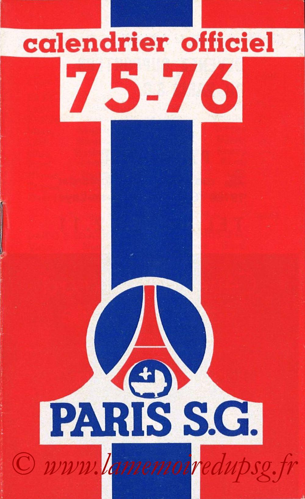 1975-76- Guide de la Saison PSG