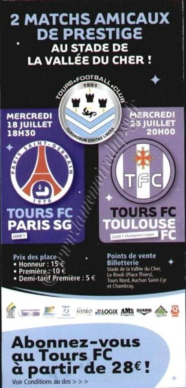 2007-07-18  Tours-PSG (Amical à Tours, Affichette)