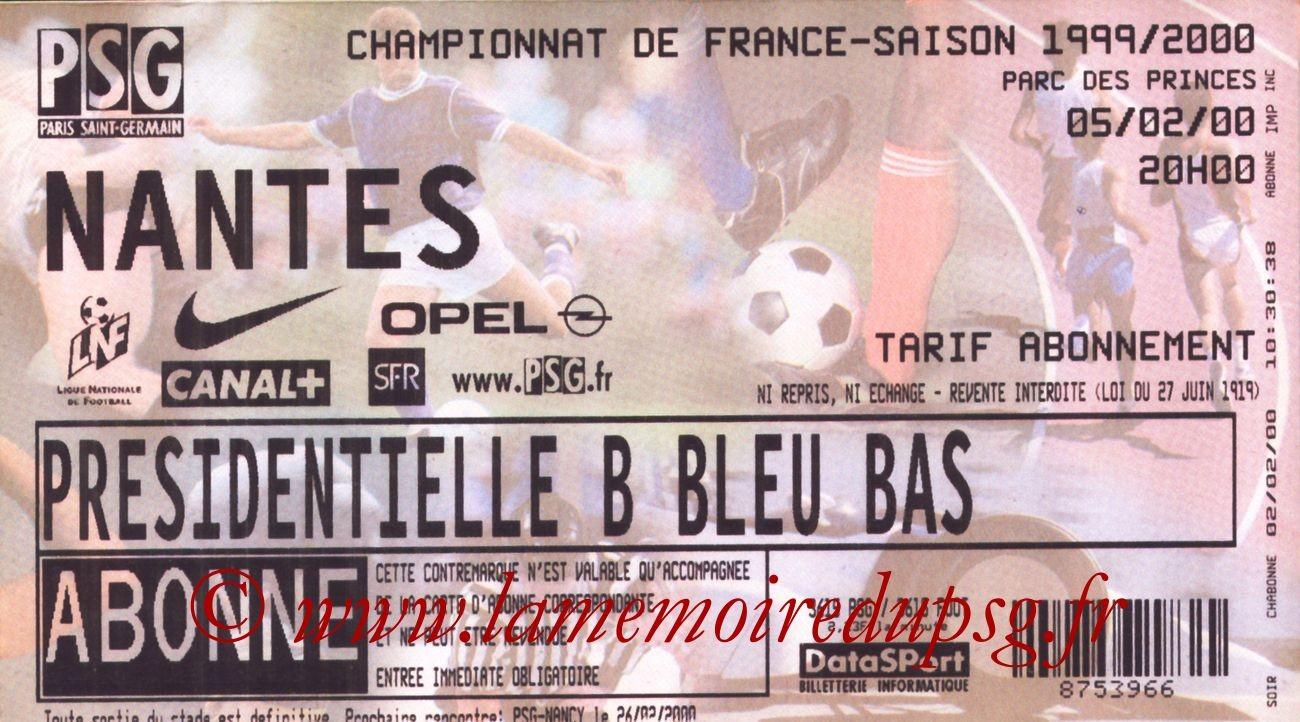 2000-02-05  PSG-Nantes (25ème D1)