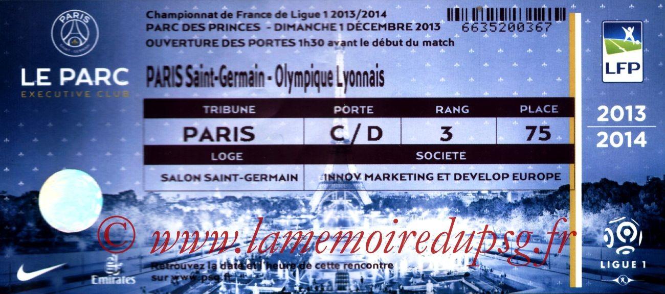 2013-12-01  PSG-Lyon (15ème L1, Loge)
