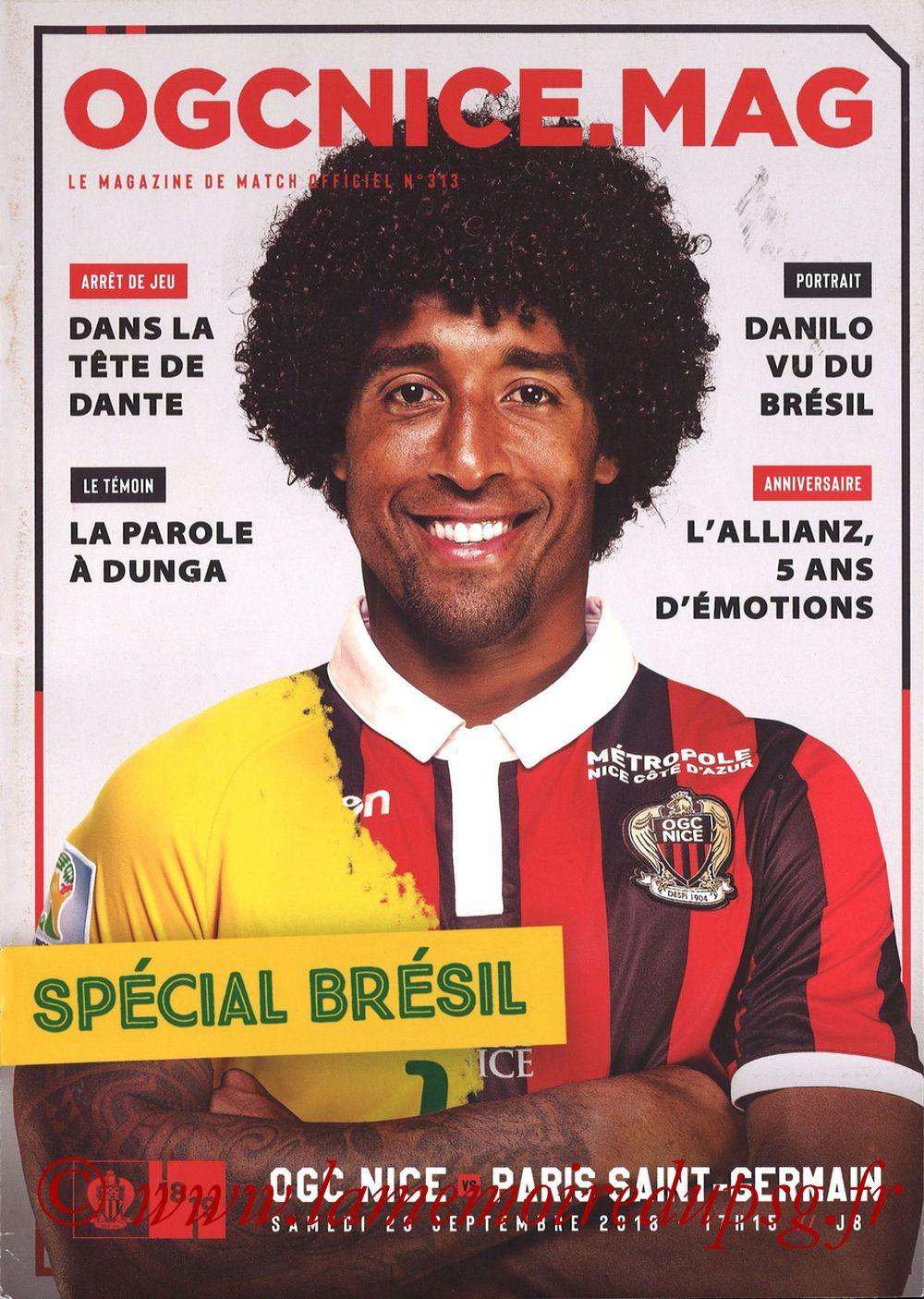 2018-09-29  Nice-PSG (8ème L1, Ogcnice.Mag N°313)