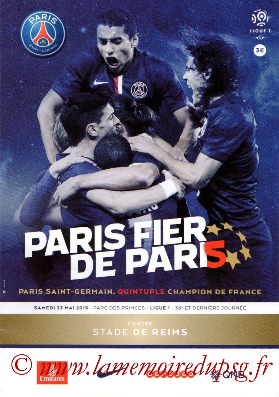 2015-05-23  PSG-Reims (Programme officiel)