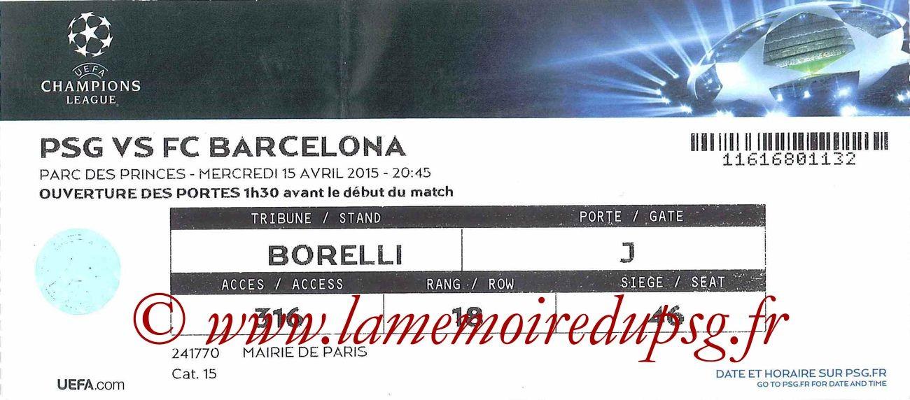 2015-04-15  PSG-Barcelone (Quart C1)