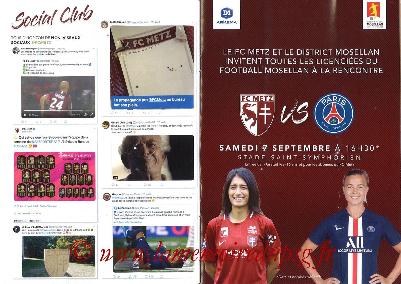 2019-08-30  Metz-PSG (4ème L1, La Gazette de Saint-Symph') - Pages 04 et 05
