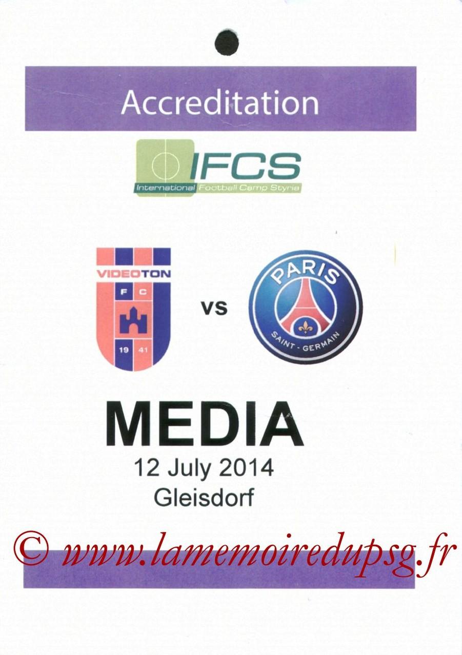 2014-07-12  Videoton-PSG (Amical à Gleisdorf, Presse)